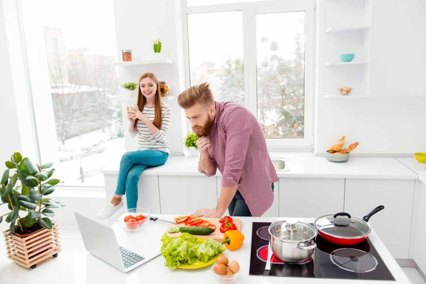 learning to cook online